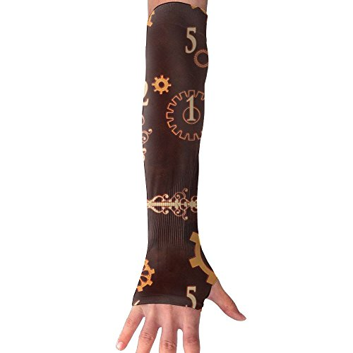 Sunscreen Gloves Steampunk(1251) Ice Silk Gloves With Comfortable And Breathable Moisture Absorption And Perspiration Of Unisex Sunscreen Arm Sleeves Outdoor Gloves by Eobiico (Image #7)