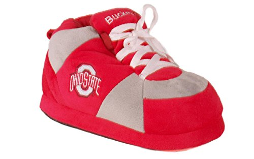 Feet College Buckeyes Sneaker Womens NCAA and Licensed Officially Slippers State Ohio Men's Happy 1qdwA4Cw