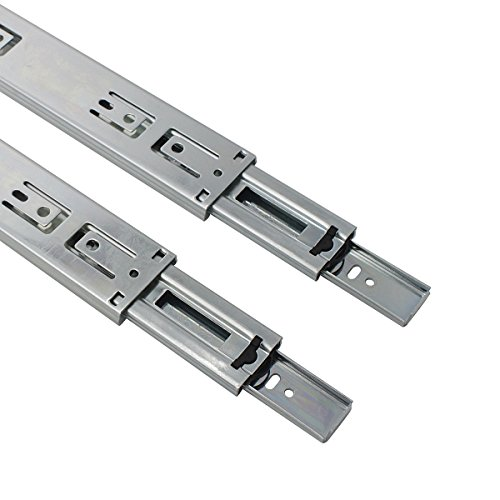 5 Pair x Probrico 12'' Push to Open Side Mount 100 LB Capacity Full Extension Ball Bearing 3 Fold Drawer Slides by Probrico (Image #4)