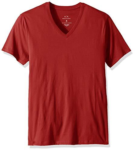 A|X Armani Exchange Men's Pima Cotton Jersey Short Sleeve Tshirt, Haute red, XL