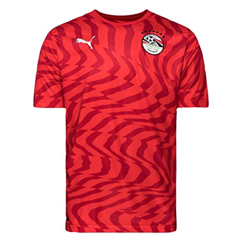 (PUMA Men's Egypt Home 2019 Jersey (Small) Red)