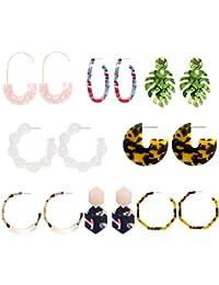 Acrylic Earrings Hoop Earrings Acrylic Resin Drop Dangle Earring Bohemian Statement Stud Earrings