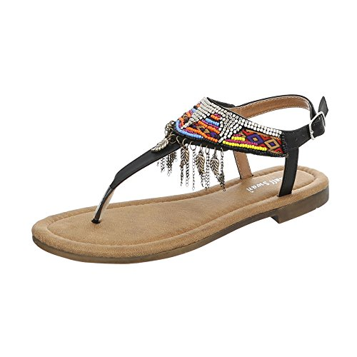 På Hæl utforming 1 Svart Ital Sandaler Kvinners Bm201 Blokkere Thong xCaw4WpqF