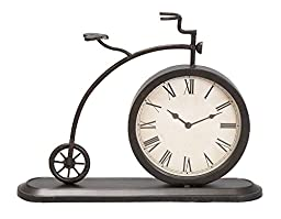 Deco 79 Metal Bicycle Clock