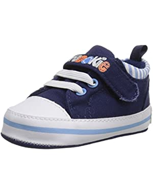 Navy Canvas Low Top Sneaker (Infant)