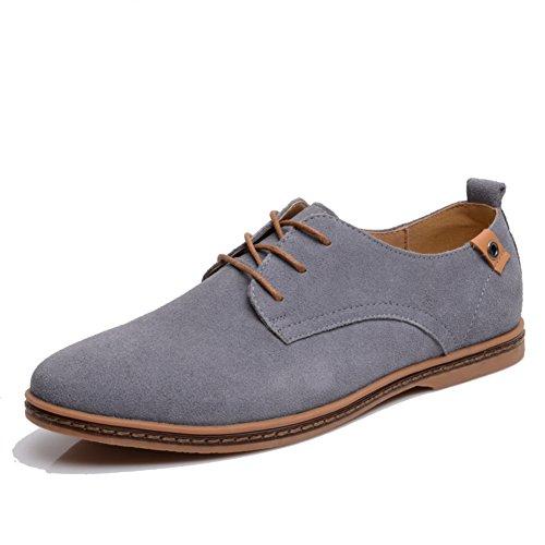 Chaussures De Sport Pour Hommes Dress Automne Grands Pieds Lacez Vers Le Haut Mode Glisser Sur Blanc C ILG1ws