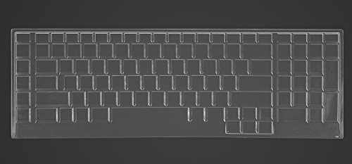 CaseBuy Ultra Thin Silicone Keyboard Protector Cover Skin for Dell Alienware 18(2013 Version), Alienware 17 R2 R3 R4(2015/2016 Version), Alienware M17(2015 Version) Gaming Laptop(Clear)