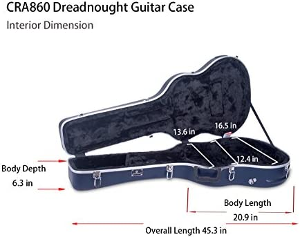Crossrock CRA860B ABS Molde Bass Guitar Case without backpack straps