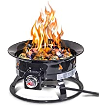 Outland Firebowl 893 Deluxe Outdoor Portable Propane Gas Fire Pit with Cover & Carry Kit, 19-Inch Diameter 58,000 BTU (Renewed)