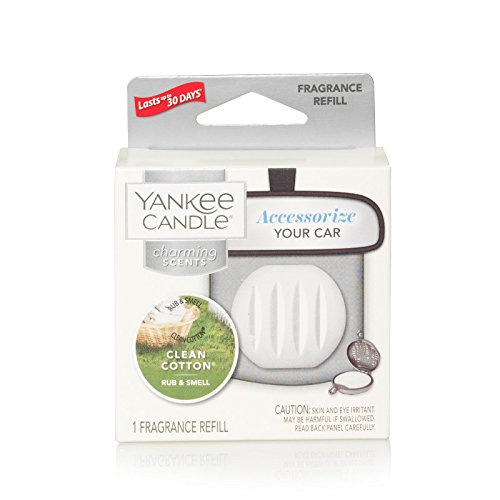 - Yankee Candle Charming Scents Car Air Freshener Refill, Clean Cotton