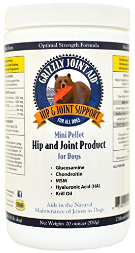 Grizzly Hip & Joint Aid Mini Pellet for Dogs 80oz (4 x 20oz)