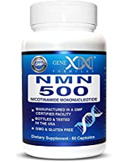 NMN Stabilized Form 500mg Serving Nicotinamide Mononucleotide Direct NAD+ Supplement More Stable Than Riboside Works Best When Paired with Resveratrol (2X 250mg Capsules 60ct).