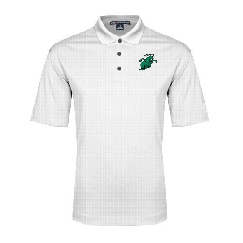 Arkansas Monticello White Performance Fine Jacquard Polo Weezy