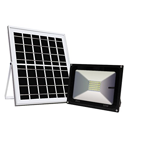 Solar Flood lights,Ultra Bright IP65 Waterproof 30W 60 LED/4000 Lumin Auto On/Off Spotlight Working Dust to Dawn,Outdoor Security Lights for Landscape Yard Garden Driveway Pathway Pool