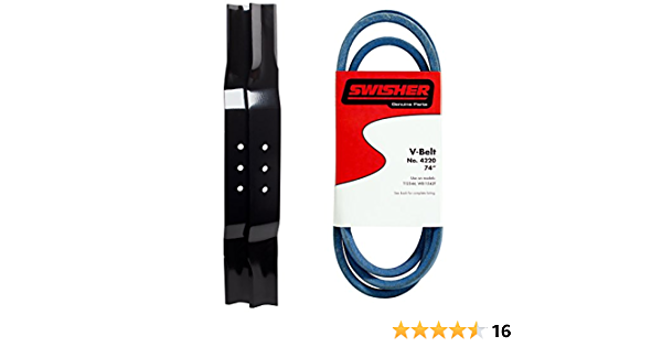1//2 x 74 Rubber D/&D PowerDrive 4220 Kevlar SWISHER Replacement Belt 4LK Section