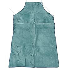 MagiDeal Welder Apron Heat Insulation Cowhide Leather Welding Protection Blue