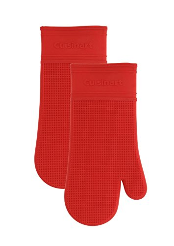 Cuisinart Silicone Oven Mitts with Quilted Liner- Not Slip,