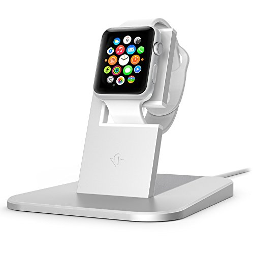 Twelve South HiRise stand for Apple Watch, silver | Metal charging dock for Apple Watch