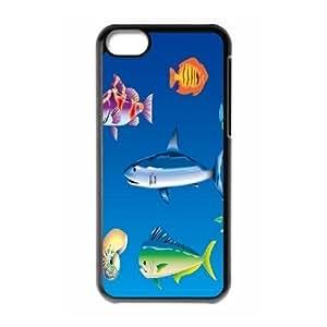 LJF phone case C-Y-F-CASE DIY Design Fish Pattern Phone Case For phone Iphone 5C