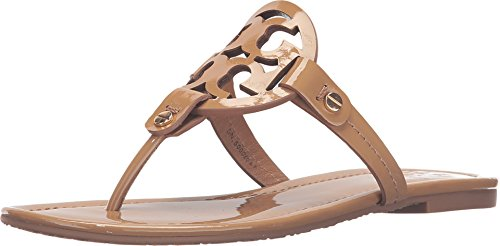 Tory Burch Miller Patent Leather Sandal, Sand ()