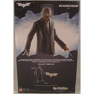 Batman Dark Knight Movie Master Exclusive Deluxe Action Figure Scarecrow with Cloth Mask: Toys & Games