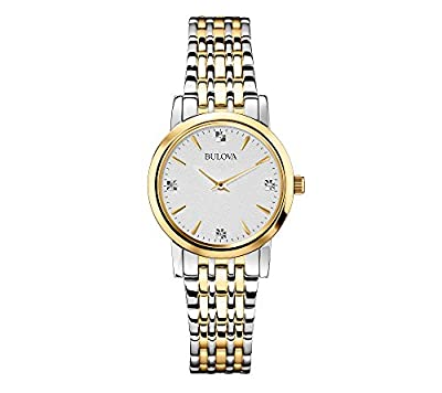 Bulova Women's Diamond Watch In Stainless Steel
