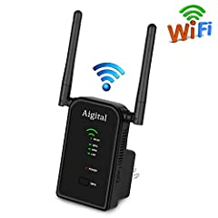 With Aigital 300Mbps Wifi Extender, Enjoy Your Wifi Life EverywhereBoost Your Wi-Fi CoverageThe range extender can boosting your signal into parts of your home it can't reach on its own. Now, you can enjoy fast, strong connections in rooms th...
