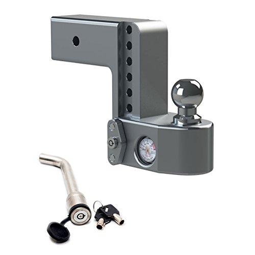 Weigh Safe WS6-3 Adjustable 6'' Drop Hitch Mount for 3'' Shaft w/ KEYED-ALIKE 3-1/2'' x 5/8'' Hitch Locking Pin by Weigh Safe