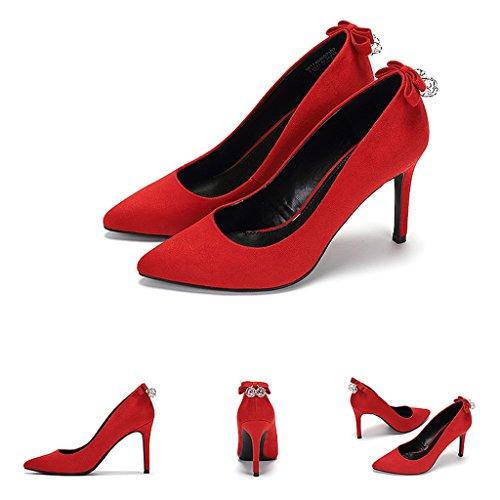 Sezione Alti Eleganti Tacchi Femminile Autunno Scarpe Sottile Moda Un SgxETwz