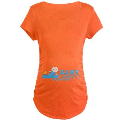 CafePress Baby Loading Maternity T-Shirt Maternity Dark T-Shirt - L Coral