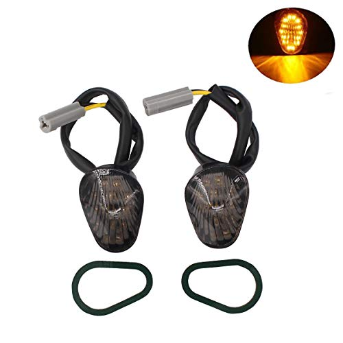 - XtremeAmazing 2 Pack Amber Flush Mount LED Turn Signal Indicator Light Lamp Blinker For Yamaha YZF R1 R6 R6S Smoked Lens