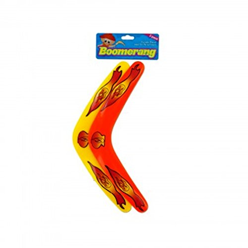 Kids Boomerangs (Pack of 2) Made of Plastic | Perfect for Kid's Gift, Party Favors, - Cards Gift Returning