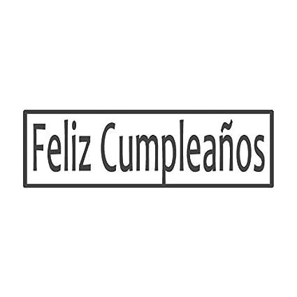 Feliz Cumpleaños, sello preentintado para profesor español ...