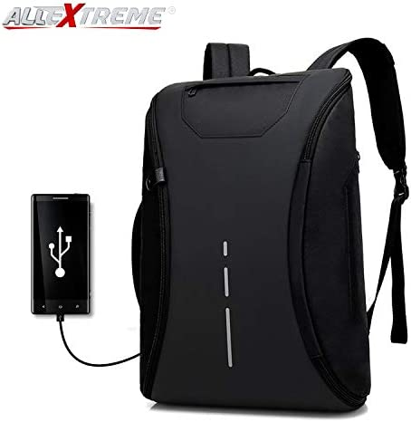 683abee60d AllExtreme EXFUBB1 360 Degree Open Anti Theft 15.6 Inch Laptop Bag  Waterproof Nylon USB Charging Travel Business Office Backpack (Black)   Amazon.in  Bags