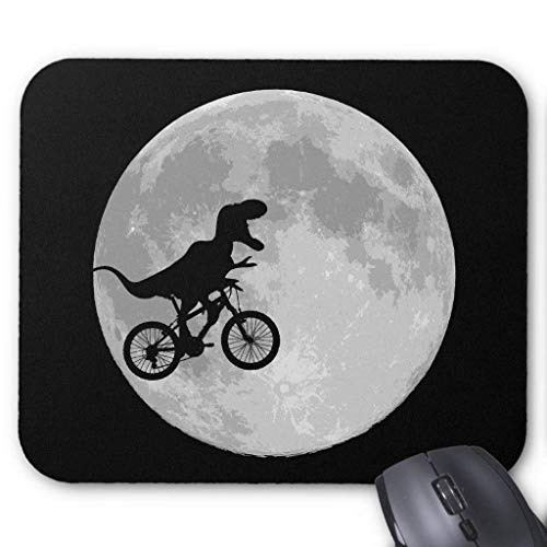 Wristband Dinosaur On a Bike in Sky with Moon Mouse Pad Computer Accessories Anti-Friction -