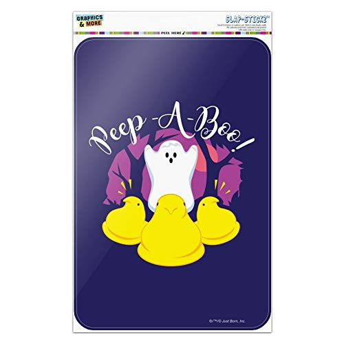 GRAPHICS & MORE Peep A Boo Ghost Halloween Home Business Office Sign - Window Sticker - 6