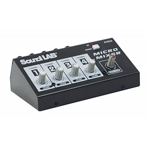 Soundlab G105aa 4 Channel Mono Microphone Mixer