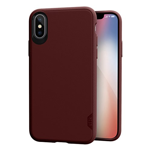 Silk iPhone Xs/iPhone X Slim Case - Kung Fu Grip [Lightweight + Protective] Thin Cover for Apple iPhone 10 - Red Rover Red ()