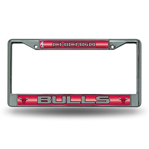 NBA Chicago Bulls Bling Chrome Plate (Bulls License Plate Frame)