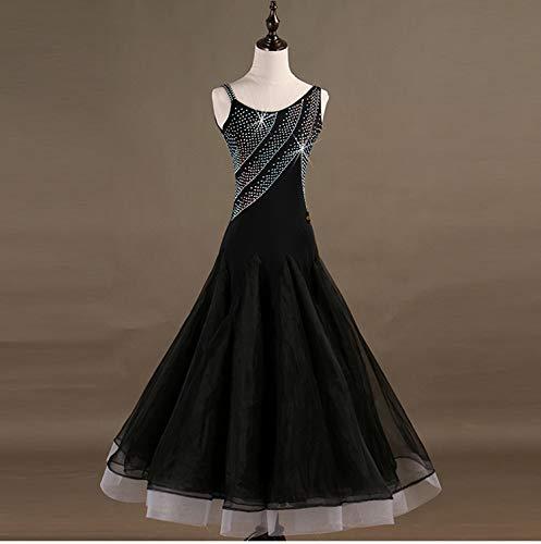 [해외]신입 하 사교 춤 모던 댄스 의상 왈츠 전용 옷과 의상을 라틴 댄스 플 라 멩 코 룸 바 삼 바 연습 경기 입고 데모 스탠다드 발표회 용 안무 복장 검정 / New Arrival Ballroom dance Modern dance costume Waltz special dress lesson wearing Latin...