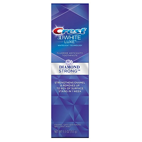 Crest 3D White Luxe Diamond Strong Brilliant Mint Flavor Whitening Toothpaste 5.5 Oz, Pack of 24 (Diamond Strong)