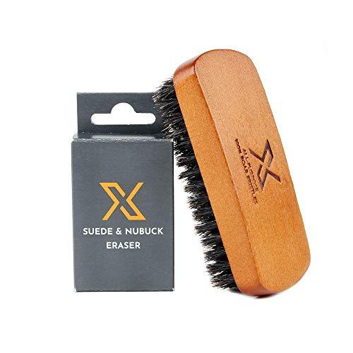 X Suede & Nubuck - Set de cuidado de zapatos, goma de borrar de ante y cepillo para polvo de limpieza de zapatos