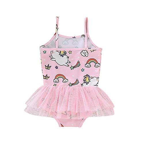 One Piece Swimwear Sling Mesh Swimsuit Kid Girl Cute Pig Print Bathing Suit Swimwear