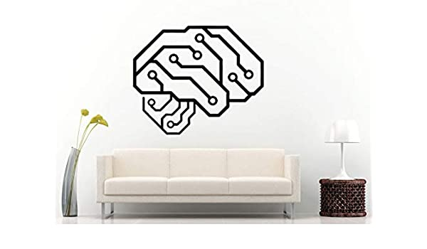Etiqueta de la pared Neureléctrico Cerebro Humano Placa de ...