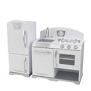 Kidkraft White Retro Kitchen And Refrigerator