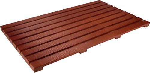 31.5'' Solid Teak Wood Non Slip Spa Shower or Door Mat by Trademark Innovations by Trademark Innovations (Image #2)