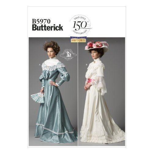 Steampunk Sewing Patterns- Dresses, Coats, Plus Sizes, Men's Patterns Edwardian Lace Misses Top and Skirt Sewing Templates Size B5 (8-10-12-14-16) by BUTTERICK PATTERNS $11.99 AT vintagedancer.com