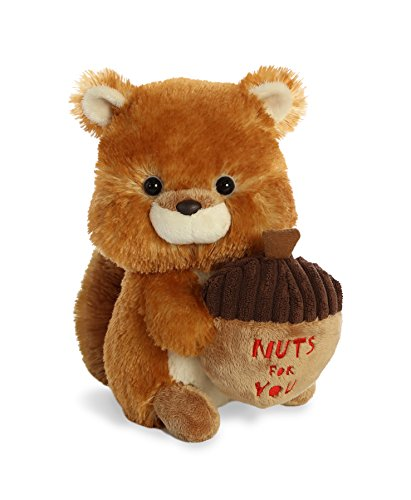 Nuts Squirrel (Aurora World Val Sayings Nuts for You Squirrel Plush Animal, Multicolor, 9