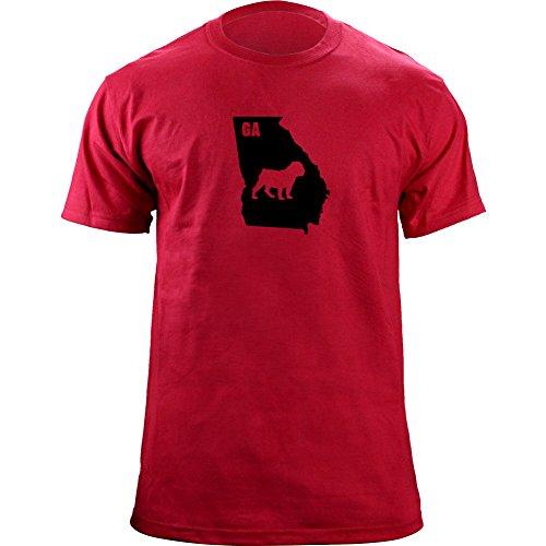 Original I Bulldog Georgia Classic Style T-Shirt (L, Red) (Mens Georgia Bulldogs Tshirt)