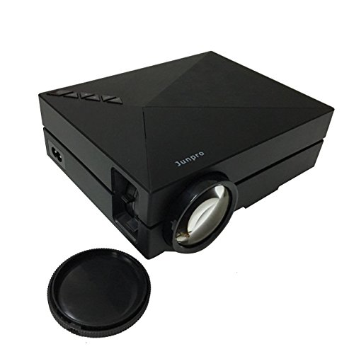 Junpro Mini Portable Video Projector – Multimedia LCD LED Home Cinema Theater Projector 1000 Lumens 800x480P with Keystone USB AV SD HDMI VGA Port